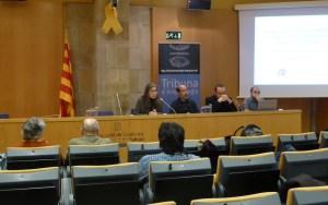 Sessió de la Tribuna d'Arqueologia del 21 de febrer de 2018. Fotografia: Imma Teixell