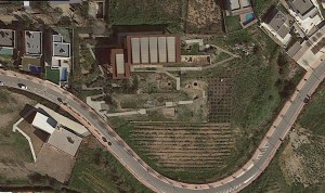 Vista aèria del parc arqueològic cella vinaria. Google earth