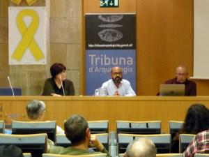 Sessió de la Tribuna d'Arqueologia del dia 16 de maig de 2018. Fotografia: Magí Miret