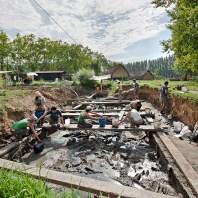 2. Vista general del jaciment neolític de la Draga durant les excavacions arqueològiques. Fotografia: Antoni Palomo, equip Draga