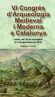 Portada del tríptic del VI Congrés d'Arqueologia Medieval i Moderna a Catalunya, que organitza l'Associació Catalana per a la recerca en Arqueologia Medieval-ACRAM,