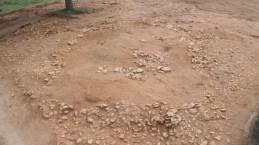 1: Vista general del túmul neolític abans de començar l'excavació.