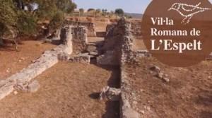 Vista de la vil·la romana de l'Espelt