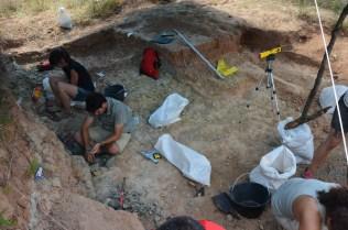 Figura 4. Excavació del jaciment de les Cases de la Valenciana (Gelida) al 2015. Fotografia: I. Casanovas-Vilar.