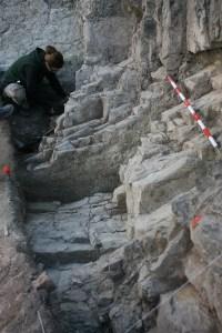 2. Excavació (2015) del front de pedrera –retall UE1001-.