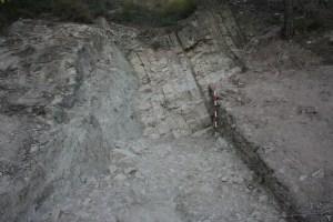 4. Detall de l'excavació (2017) del rebliment del retall de pedrera UE1001.