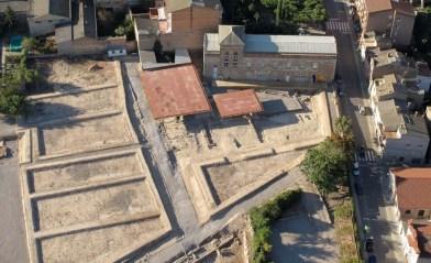 Vista aèrea del jaciment de la ciutat romana de Iesso, actual Guissona