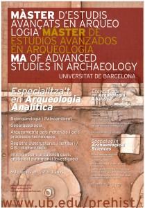 Pòster del Màster Oficial d'Estudis Avançats en Arqueologia de la Universitat de Barcelona