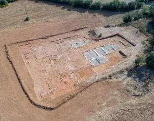 Vista aèria de la vil·la de Saturió o Can Ring. Fotografia: Dani Baños