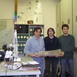 1-Redescoberta del primer dino en 2006. Fotografia: Institut Català de Paleontologia Miquel Crusafont