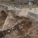 4. Estrep nord del pont delimitat durant la intervenció. Fotografia: Josep Maria Vila