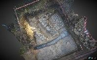 Aixecament 3D de la muralla del sector 2 al final de l'excavació.