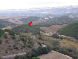 Localització de la Mina de la Turquesa, al marge dret del riu Arbolí (Cornudella de Montsant), baixant des del Coll d'Alforja