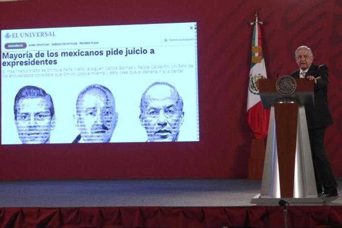 Consulta sobre expresidentes no es una persecución: AMLO