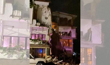 Today the hotel garlands del rio collapsed, located on the banks of the river Cuale