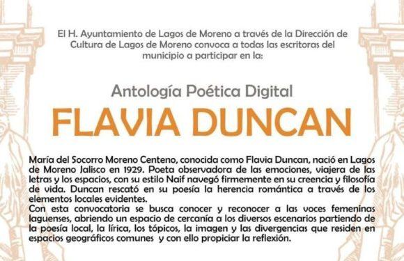 Lanzan convocatoria Antología poética digital Flavia Duncan,  un llamado a las voces femeninas laguenses de ayer y de hoy