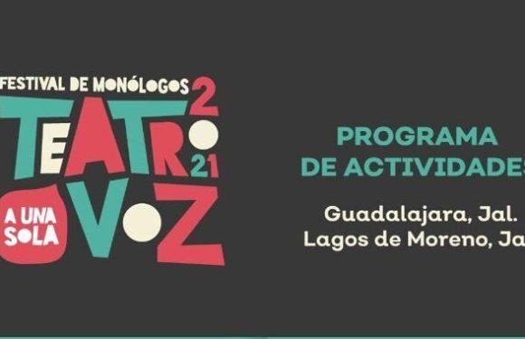 Llega a Lagos de Moreno el Festival de Monólogos Teatro a una sola Voz