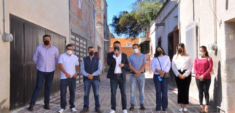 Entrega Gobierno Municipal dos calles renovadas y un parque lineal