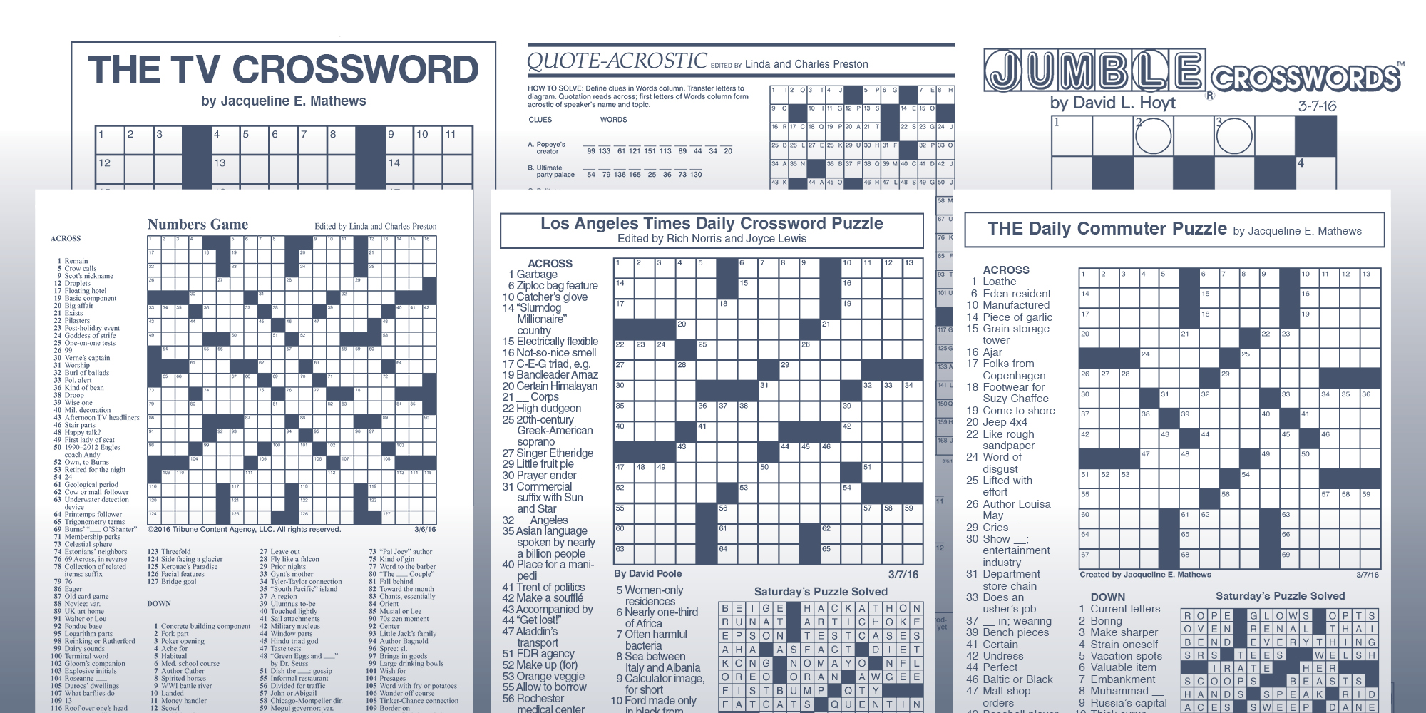 Six Original Crosswords Your Readers Can Rely On