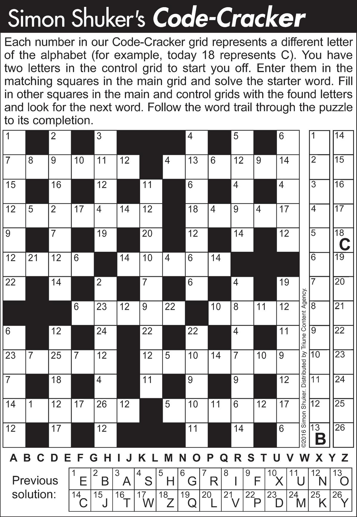 Code Cracker Sample Puzzle 3