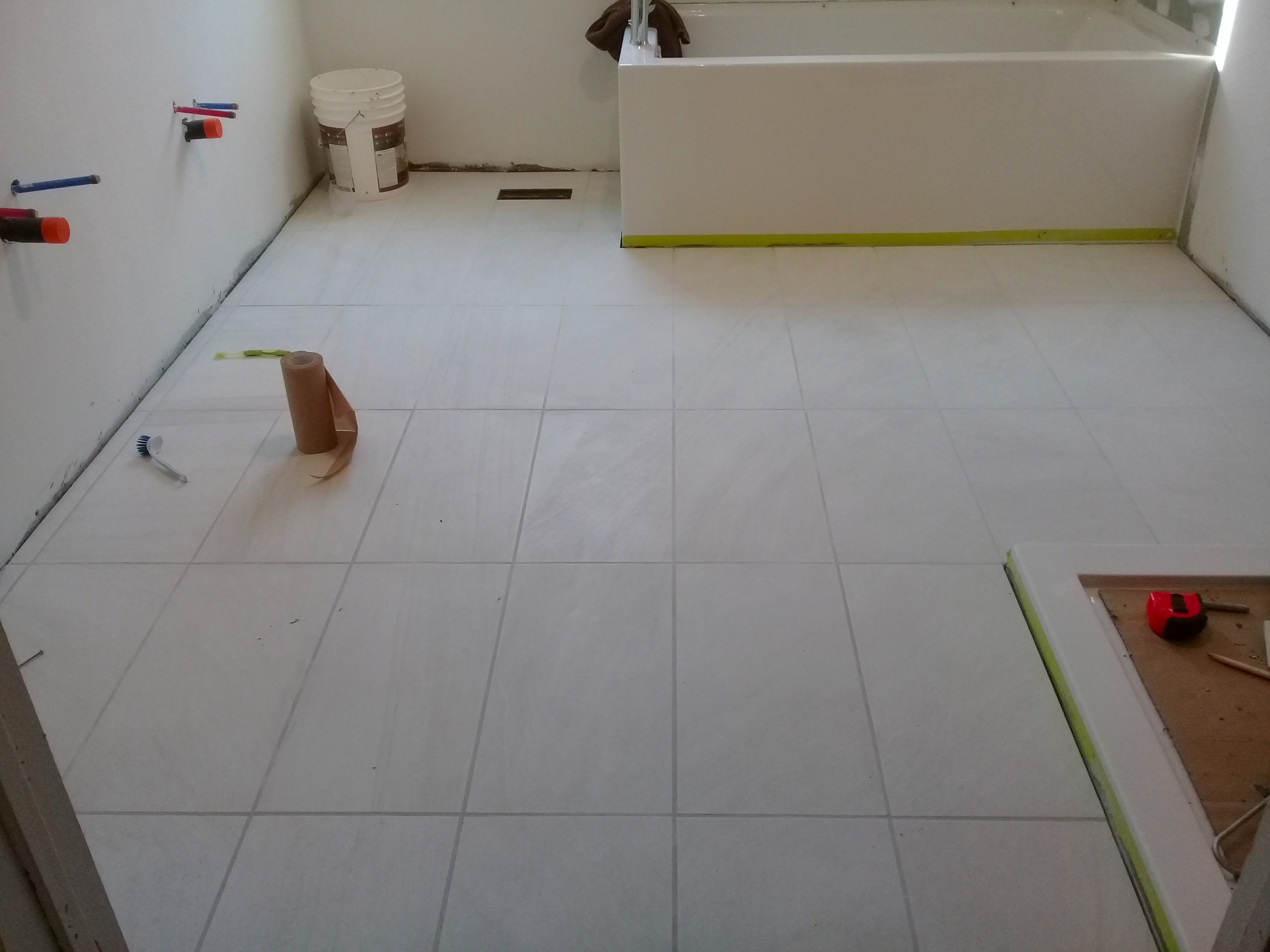 ask the builder tile grout color can