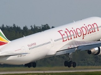The Ethiopian Airline aircraft