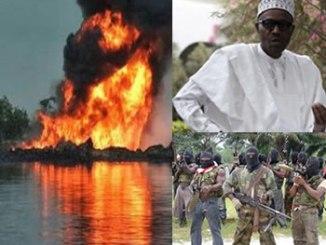 militant-blown-pipeline-and-buhari
