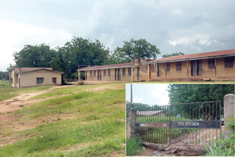 Anwar-ul-Islam Grammar School, Eleyele, Ibadan, under lock and key.