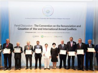 1st Annual Commemoration of September  18thWorldAlliance   of Religions' Peace  Summit(2015) (1)