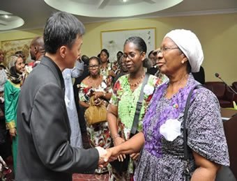 "From Left: Chinese Consul General in Nigeria, Liu Kan, Edith Udeagu and Mrs Kate Chibundu at the special ""Celebration of Life and Times"" service in honour of former Nigerian Ambassador to China, late Ambassador Chibundu organized by the Chinese community in Nigeria."