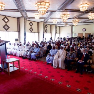 United States Secretary of States John Kerry addressing traditional rulers and government functionaries in Sokoto.