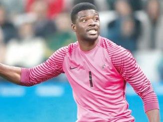 Daniel Akpeyi, beaten twice by Colombia.