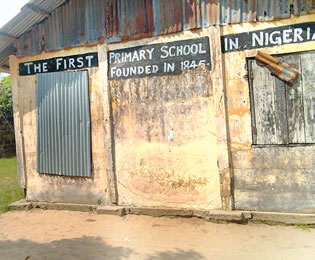 St Thomas primary school, Badagry, the first primary school in Nigeria established in 1845.