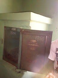 The first Nigerian bank  vault established in 1856 at the first storey building.
