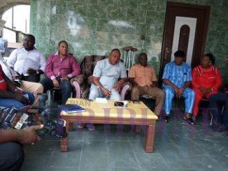 Ijaw leaders addressing the press.