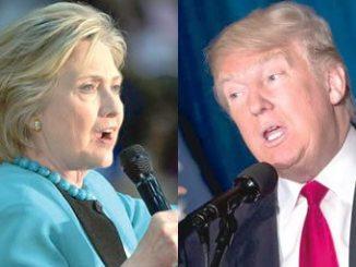 Clinton (left) and Trump. PHOTO: EPA/AFP