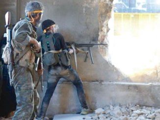 The rebels killed in the bombing were reportedly preparing to fight near the divided city of Aleppo. PHOTO: AFP