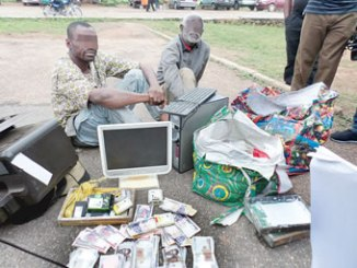 The suspects and the exhibits recovered from them