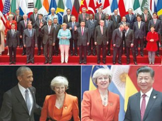 World leaders at the G-20 summit in China. PHOTO: AP