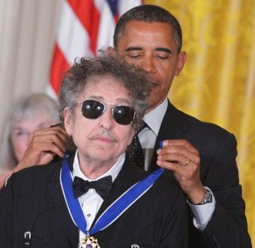 Dylan's other honours include the Presidential Medal of Freedom he received in 2012. PHOTO: AFP