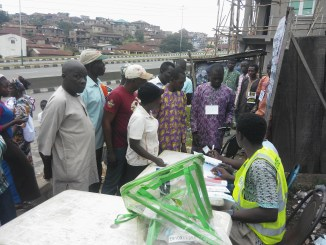 Voters exercising their civic rights during the Local Government election in Ogun State. Photo:Olayinka Olukoya
