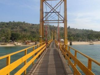 The bridge connected two small islands off Bali's south-east coast. PHOTO: REUTERS