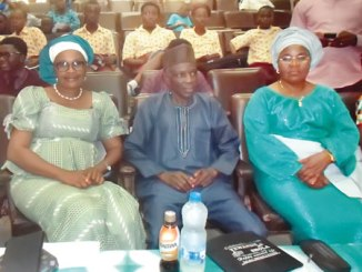 From right, Mrs Comfort Akinmeji, Chief Museum Education Officer; Curator, National Museum of Unity, Ibadan, Dr Amos Olorunnipa and Mrs Feyisara Akinbiola, at the museum's Independence Day celebration in Ibadan.