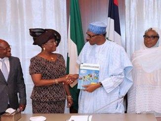 President Muhammadu Buhari receives the Executive Secretary of Gulf of Guinea Commission, Mrs Florentina Ukonga and her team today in Abuja.