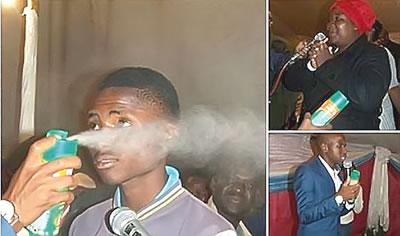 Insecticide Pastor slammed for the use of Killer spray for healing church members