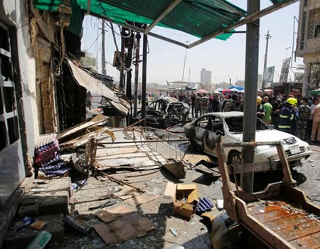 Auto bombing outside Baghdad ice cream parlour kills 13 and wounds 24