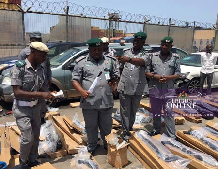 Customs seizes another container load of pump action rifles