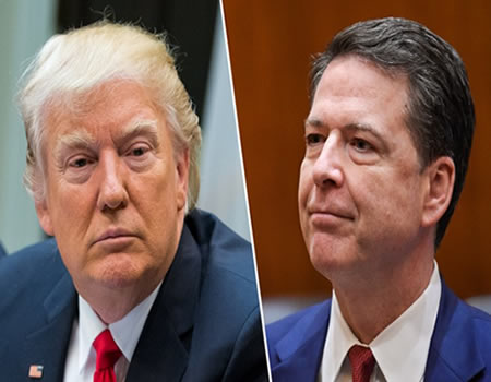 Trump calls Comey a 'showboat,' denies colluding with Russia