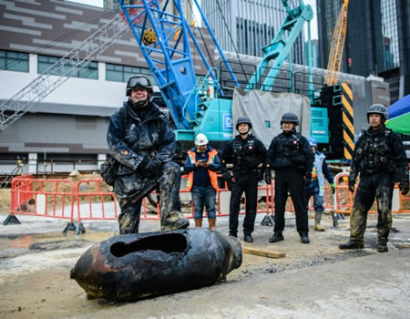 WW2 - Hong Kong police investigate 'homemade explosive' found amid protests