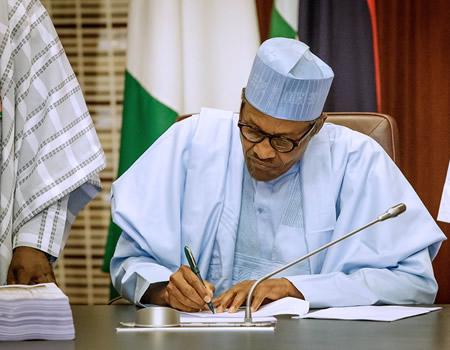 Buhari signs amended Companies, Buhari polio-free status, Buhari approves, Buhari, finance bill, VAT